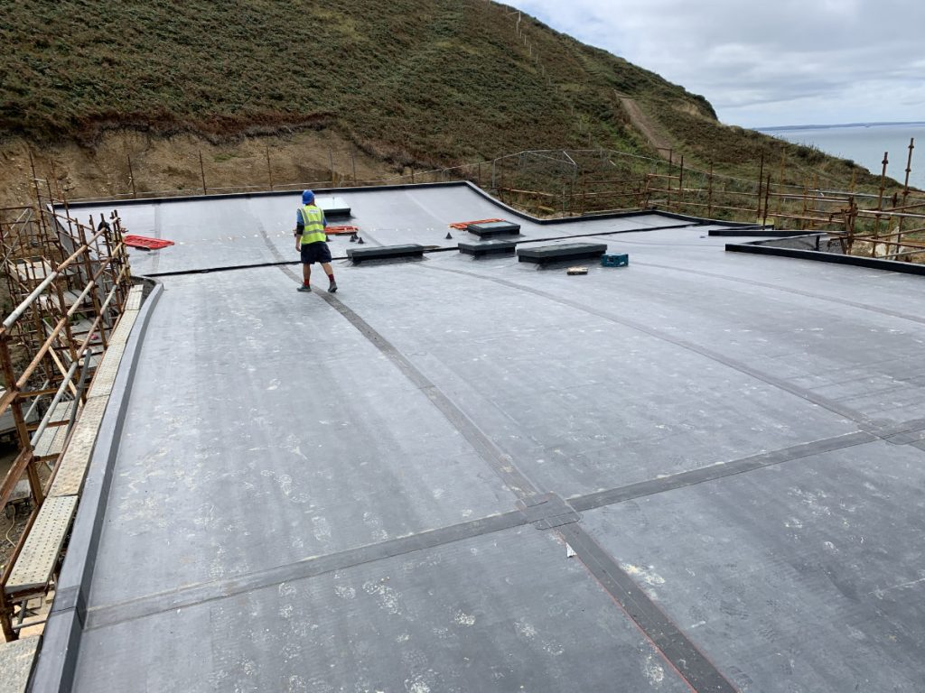 Cliffside home in Pembrokeshire - Roof Installation