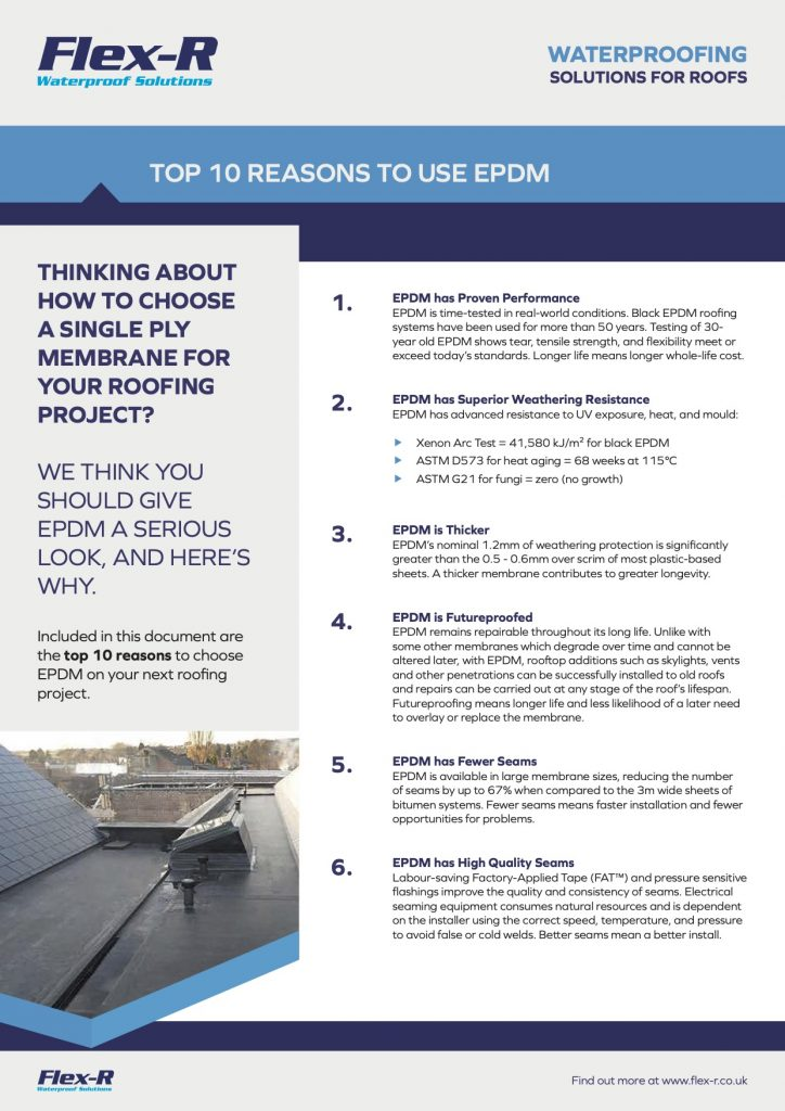 Top Ten Reasons to use EPDM
